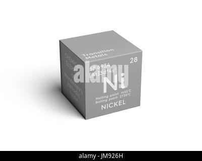Nickel transition metals chemical element of mendeleevs periodic chemical element of mendeleevs periodic table nickel in square cube urtaz Gallery