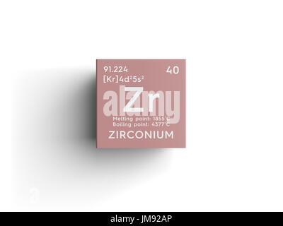 Symbol for the chemical element zirconium stock photo 59914889 alamy chemical element of mendeleevs periodic table zirconium in square cube urtaz Images