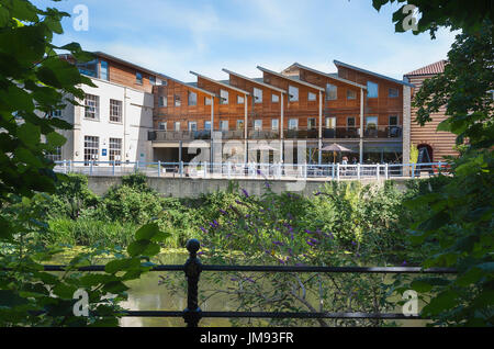 New development in Bradford on Avon on site of old rubber factory UK - Stock Photo
