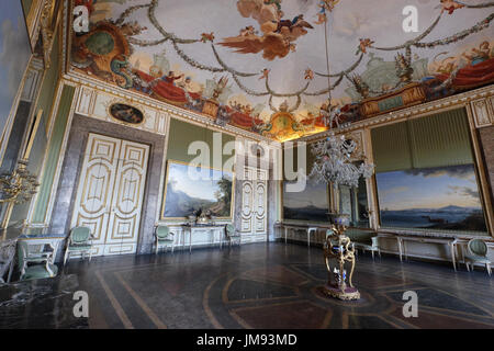 The room of Spring, Royal Palace of Caserta, Campania, Italy - Stock Photo