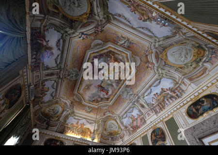 The room of summer Royal Palace of Caserta (reggia di caserta),Caserta,Campania,Italy - Stock Photo