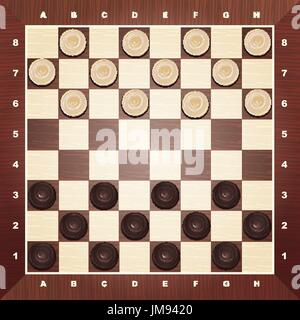 Brilliant classic checkers, vector illustration, there are two layers - Stock Photo