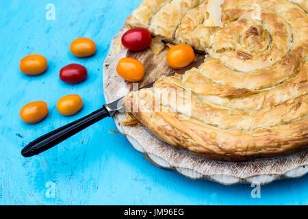 Traditional Balkan pie - burek - Stock Photo