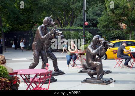 Ruth Wittenberg Triangle in Greenwich Village in manhattan, NYC - USA - Stock Photo