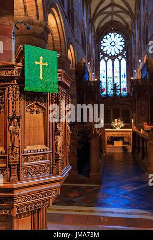 St Magnus Cathedral, Kirkwall city, Orkney Mainland, Scotland, United Kingdom - Stock Photo