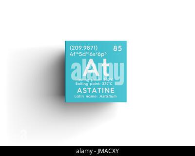 Astatine astatium halogens chemical element of mendeleevs stock chemical element of mendeleevs periodic table astatine in square urtaz Gallery