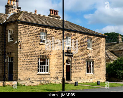 The Harewood Arms Pub at Harewood West Yorkshire England - Stock Photo