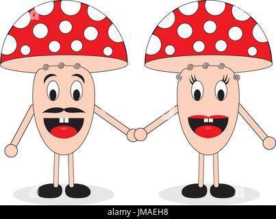 Couple of mushrooms - Stock Photo