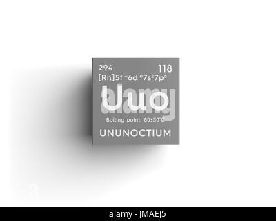 Ununoctium noble gases chemical element of mendeleevs periodic ununoctium noble gases chemical element of mendeleevs periodic table ununoctium in square cube urtaz Gallery