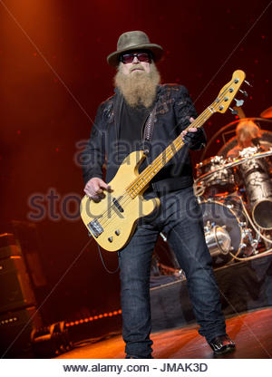 Manchester, UK. 25th July, 2017. ZZ Top Play Manchester Apollo 25th July As Part of Their Tonnage Tour Credit: Shayne - Stock Photo