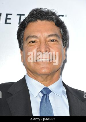 Los Angeles, CA, USA. 26th July, 2017. Gil Birmingham at arrivals for WIND RIVER Premiere, Ace Hotel Los Angeles, - Stock Photo
