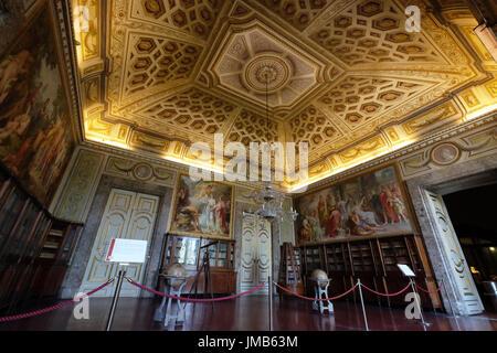 Third Room of The Library,Royal Palace of Caserta, Campania, Italy - Stock Photo