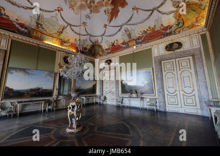 The room of Spring, Royal Palace of Caserta, Campania, Italy - Stock Photo