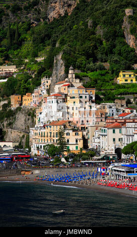 Amalfi, Amalfi Coast, Peninsula of Sorrento, Campania, Gulf of Salerno, Italy. - Stock Photo