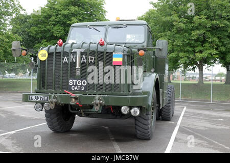 26thJuly 2017 - British Army Thronycroft Mighty Antar MkII, a restored version at the REME museum car park. - Stock Photo