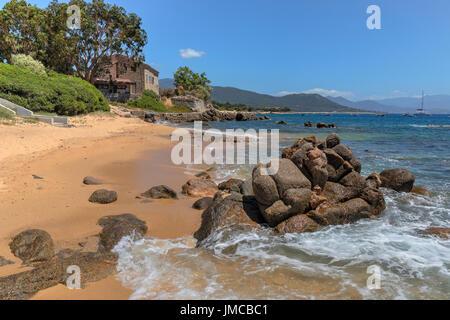 Porto Pollo, Gulf of Valinco, Corsica, France - Stock Photo