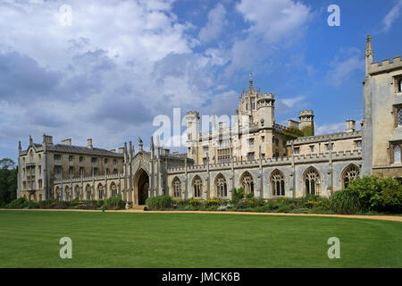 CAMBRIDGE, ENGLAND - AUGUST 2012; A part of St. Johns College in Cambridge university. - Stock Photo