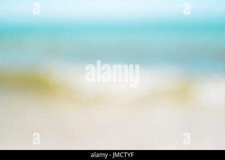 Seascape with blurry effect, summer abstract background - Stock Photo