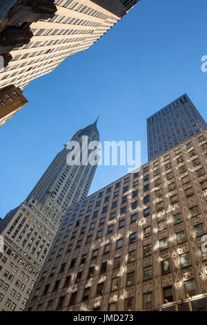 The iconic Chrysler Building in New York City, New York, USA - Stock Photo