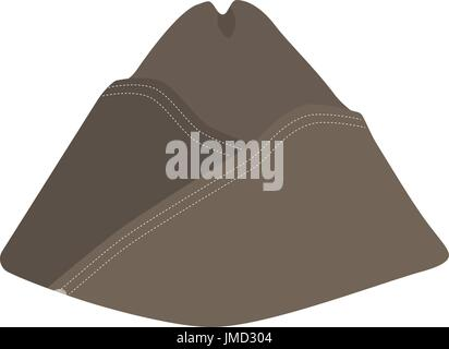 Vector illustration military forage cap. Aviation uniform cap - Stock Photo