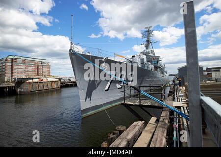 uss cassin young at Charlestown navy yard Boston USA - Stock Photo