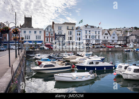 The old harbour, The Quay, Dartmouth, Devon, UK. - Stock Photo