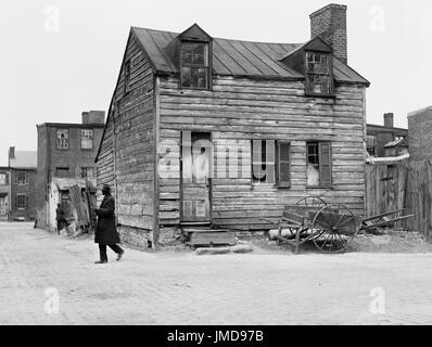 Wood Frame House, Washington DC, USA, Harris & Ewing, 1923 - Stock Photo