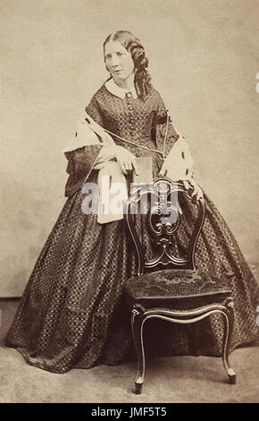 Harriet Beecher Stowe (1811-1896) was an American abolitionist and author, best known for her novel Uncle Tom's - Stock Photo