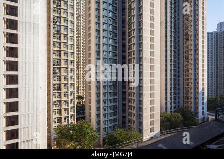 HONG KONG - JANUARY 9, 2015: Hong Kong suburbs, - Stock Photo