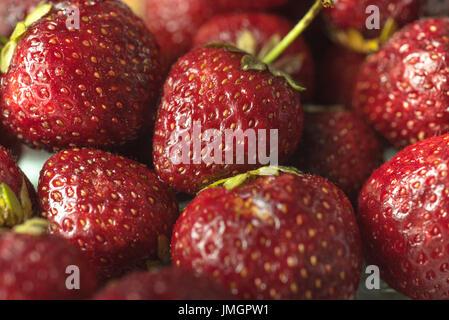 Picture of fresh ripe perfect strawberry. Macro.