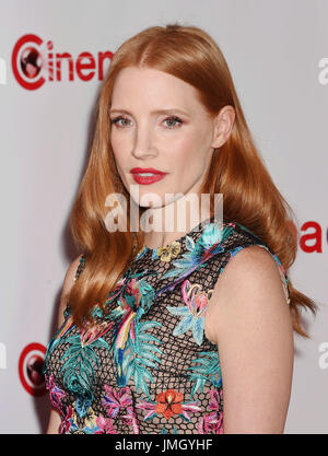 LAS VEGAS, CA - MARCH 30:  Actress Jessica Chastain attends the CinemaCon Big Screen Achievement Awards at Omnia - Stock Photo