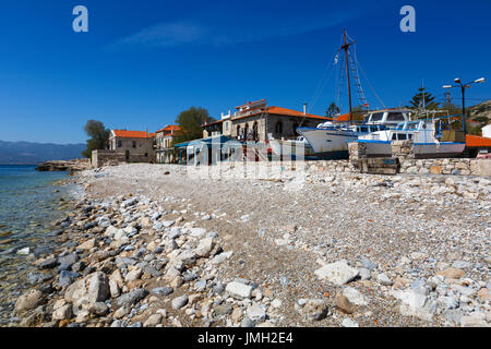 Harbour of Pythagorio town on Samos island, Greece. - Stock Photo