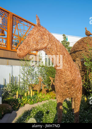 LONDON, UK - MAY 25, 2017: RHS Chelsea Flower Show 2017. Yorkshire based artist Emma Stothard display with life - Stock Photo