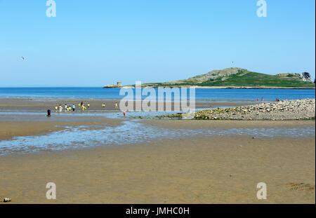 The island of Ireland's Eye from Sutton Beach, Howth, Dublin, Ireland