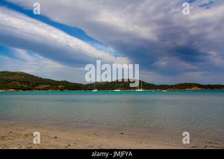 Beach in Corsica (Santa Guilia) - Stock Photo