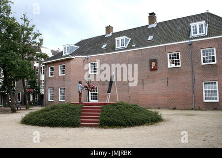 Rembrandt van Rijn monument at Rembrandt plaats in his birthplace, the city of Leiden, The Netherlands. - Stock Photo