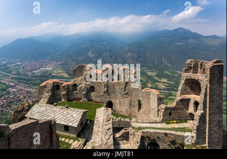 View of the monastery church of Sacra di San Michele in the Susa ...