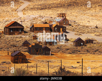 The Decaying Ghost Town of Bodie - Stock Photo