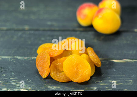Apricot and apricot. Dry apricot. Fruits Healthy - Stock Photo