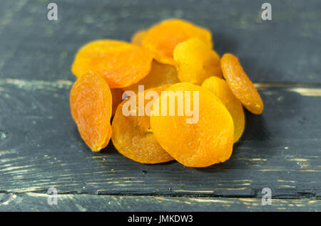 Dry apricot. Fruits Useful Vitamins Healthy. Front view - Stock Photo