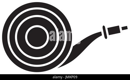 gardening hose icon - Stock Photo