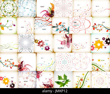 Mega collection of autumn floral abstract backgrounds - Stock Photo