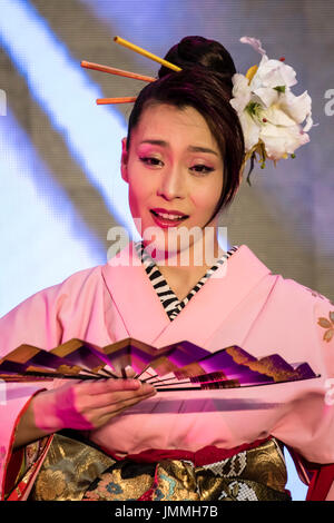Kuala Lumpur, Malaysia. 28th July, 2017. Japanese dancers at Japan Expo Malaysia 2017, the first all Japan event - Stock Photo