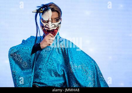 Kuala Lumpur, Malaysia. 28th July, 2017. Japanese dance artist, Mr. Naomichi Hanazono at Japan Expo Malaysia 2017, - Stock Photo