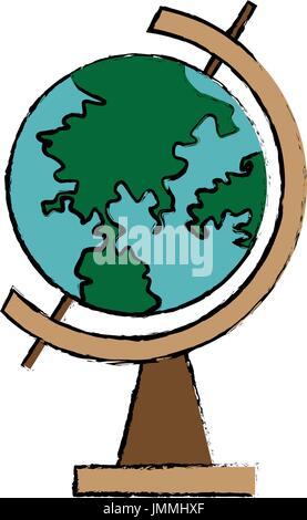 school globe geography navigation location map - Stock Photo