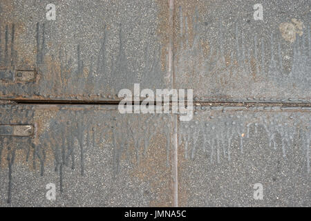 Close Up Of A Sidewalk Asphalt Manhole Cover On The Street New York