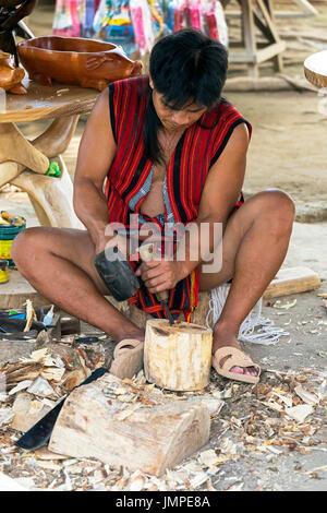 Philippines Ifugao Wood Carving Stock Photo: 8761277 - Alamy