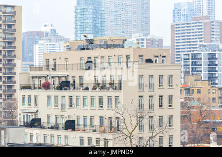 Expensive condo buildings and living homes in Canada. - Stock Photo
