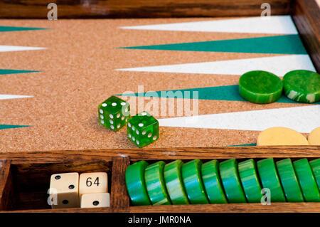 Backgammon Board Game - Stock Photo