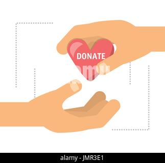 donation support symbol to charity of the people - Stock Photo